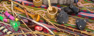 mongoliskt hantverk panorama 300x116 - Mongolian handicrafts selling on the street market.